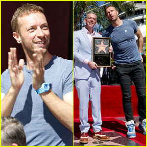 Chris Martin Honors Radio Star Elvis Duran at His Hollywood Walk of Fame Ceremony