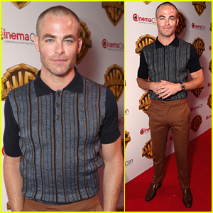 Chris Pine Shaves Off All His Hair - See His Bald New Haircut!