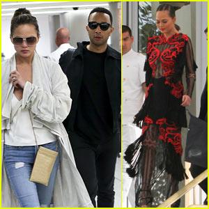Chrissy Teigen & John Legend Attend a Friend's Wedding in Miami!
