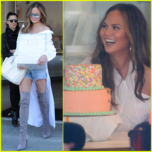 Chrissy Teigen Bakes a Cake Ahead of Luna's First Birthday!