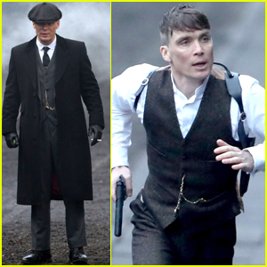 Cillian Murphy Gets Serious on the 'Peaky Blinders' Set