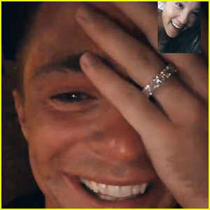 Colton Haynes Shows Off Sparkly Engagement Ring in Cute Facetime Call With BFF Ally Maki