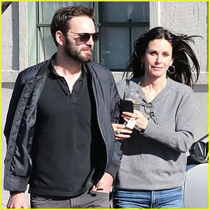 Courteney Cox & Fiance Johnny McDaid Grab Lunch in WeHo