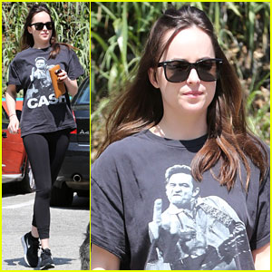 Dakota Johnson Makes a Quick Errand Run with Her Dog ...