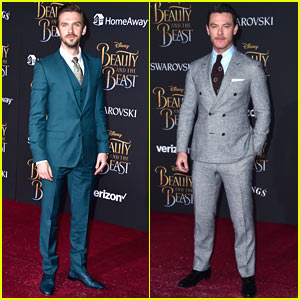 Dan Stevens & Luke Evans Suit Up for the 'Beauty & the Beast' Premiere!