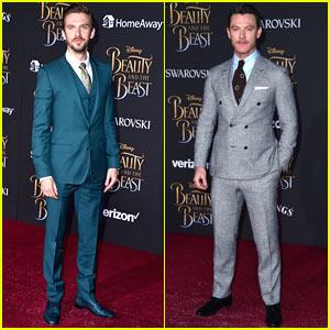 Dan Stevens Luke Evans Suit Up For The Beauty Beast Premiere