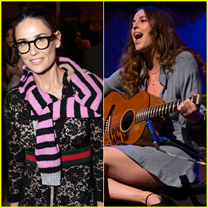 Demi Moore Supports Daughter Scout At Planned Parenthood Event