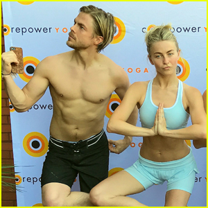 Derek Hough Goes Shirtless For Yoga Class With Sister Julianne
