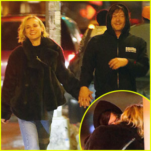 Diane Kruger & Norman Reedus Kiss, Pack on PDA in NYC!