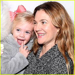 Drew Barrymore's Daughter Frankie Meets the Easter Bunny - Cute Photos!