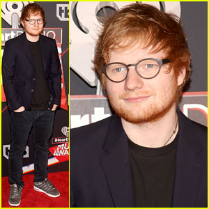 Ed Sheeran Hits the iHeartRadio Music Awards 2017 Red Carpet!