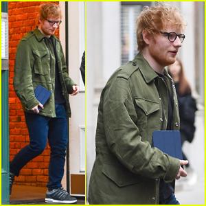 Ed Sheeran Makes a Stop at Taylor Swift's NYC Apartment