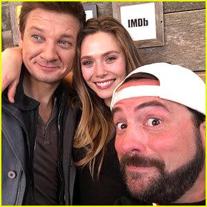 Elizabeth Olsen & Jeremy Renner Snap Selfie With Kevin Smith: 'Avengers Assemble!'