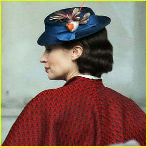 Emily Blunt Begins Filming 'Mary Poppins Returns' in London - See the Set Pics!