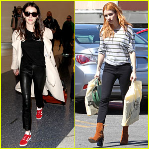 Emma Roberts Channels Younger Aunt Julia With New Brunette Hair