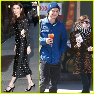 Emma Roberts & Evan Peters Step Out for Coffee in NYC