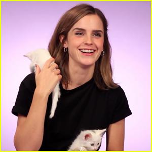 Watch Emma Watson Be Mesmerized By Adorable Kittens