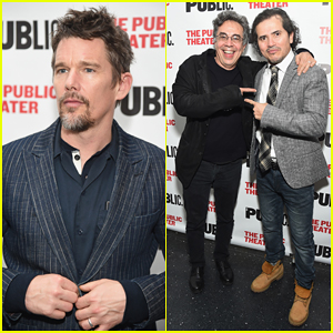 Ethan Hawke Supports John Leguizamo At His 'Latin History For Morons' Opening Night!