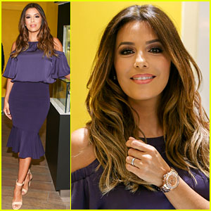 Eva Longoria Promotes New Watch Line in Miami
