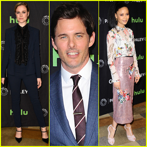 Evan Rachel Wood, James Marsden, & Thandie Newton Arrive in Style for 'Westworld' PaleyFest Panel