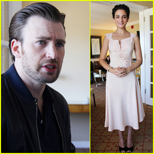 Exes Chris Evans & Jenny Slate Reunite at 'Gifted' Press Event