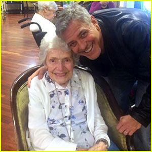 George Clooney Surprises Fan on Her 87th Birthday!