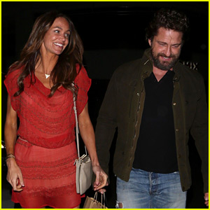 Gerard Butler & Morgan Brown Are All Smiles on Date Night!