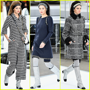 Gigi & Bella Hadid & Kendall Jenner Get Glam on 'Chanel' Runway