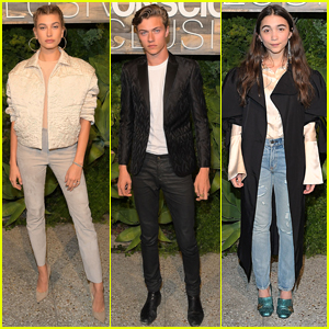 Hailey Baldwin, Lucky Blue Smith, & Rowan Blanchard Step Out for H&M Conscious Dinner