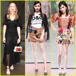 Halston Sage, Sofia Carson, & Rainey Qualley Join More Millenials at Dolce&Gabbana Party!