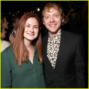 'Harry Potter' Stars Rupert Grint & Bonnie Wright Reunite!