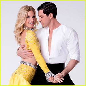 Glee's Heather Morris Jives on 'DWTS' Without Partner Maksim Chmerkovskiy (Video)