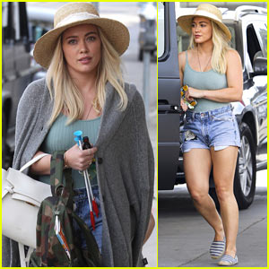 Hilary Duff Enjoys the Warm California Weather