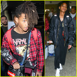Jaden & Willow Smith Arrive Home From Paris Fashion Week
