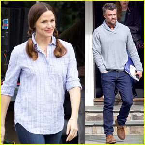 Jennifer Garner Looks Cute in Pigtails on Set of  'Simon vs. The Homo Sapiens Agenda'