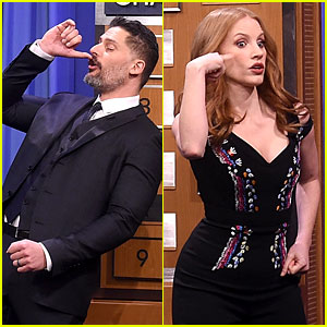 Jessica Chastain & Joe Manganiello Face Off in Charades on 'Fallon' (Video)
