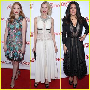 Jessica Chastain, Naomi Watts, & Salma Hayek Attend the CinemaCon 2017 Achievement Awards