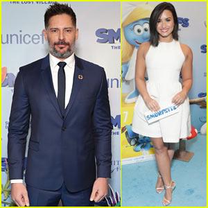 Joe Manganiello & Demi Lovato Bring 'The Smurfs' to NYC