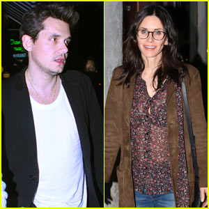 John Mayer & Courteney Cox Check Out a Concert in WeHo