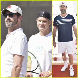 Jon Hamm Helps Raise Over $100K At Desert Smash Charity Tennis Match!