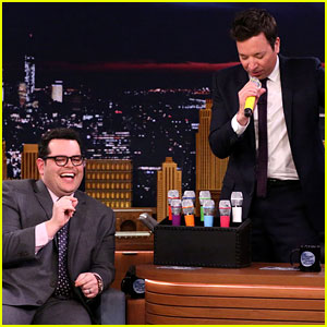 Josh Gad & Jimmy Fallon Sing Disney Songs Using Voice-Changing Microphones!