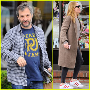 Judd Apatow & Leslie Mann Grab Lunch in L.A.