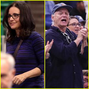 Julia Louis-Dreyfus & Bill Murray Support Their Sons at NCAA Tournament!