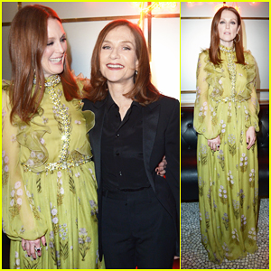 Julianne Moore Buddies Up With Isabelle Huppert At L'Oreal Paris Dinner!