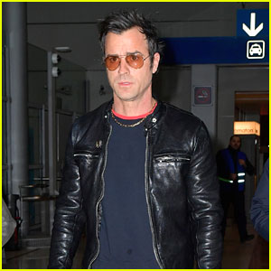 Justin Theroux Arrives In Paris For Fashion Week
