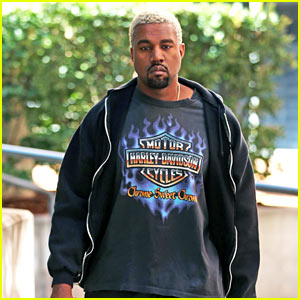 Kanye West Shows Off His Platinum Hair at the Gym