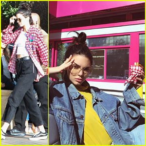 Kendall Jenner is Sassy While Posing with Hamburger