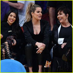 Khloe & Kourtney Kardashian Sit Courtside with Kris Jenner at Tristan Thompson's Cavaliers Game!