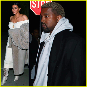 Kim Kardashian & Kanye West Have Low-Key Date Night!