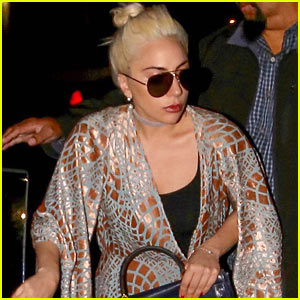 Lady Gaga Enjoys Night Out in Beverly Hills